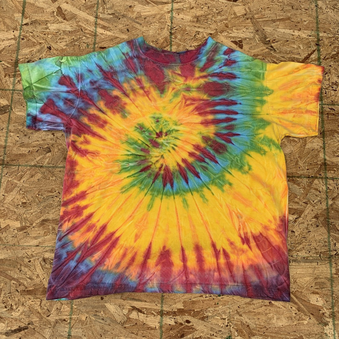 Yellow Orange Green Blue Tie Dye | L