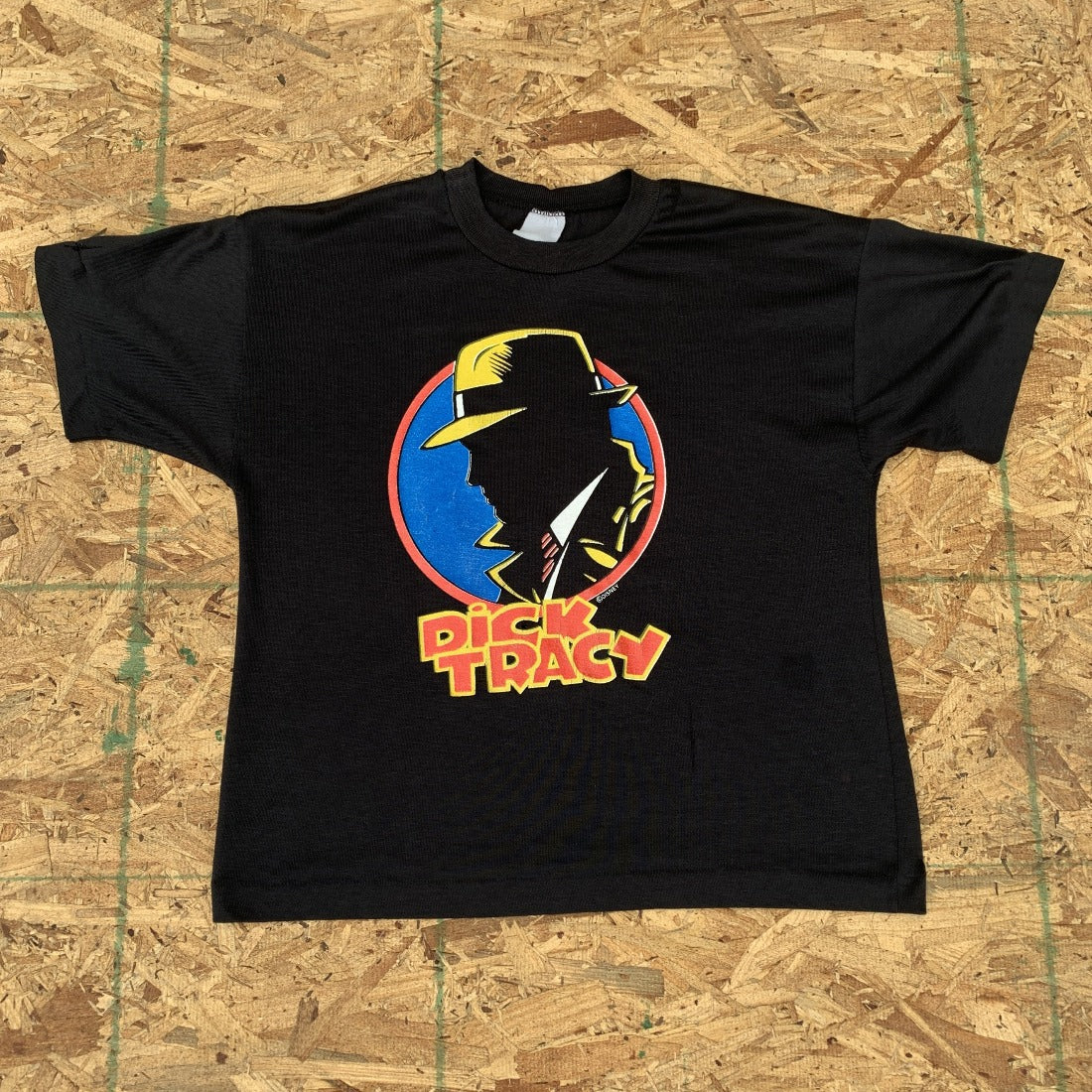 90s Dick Tracy Black Crop Top | S