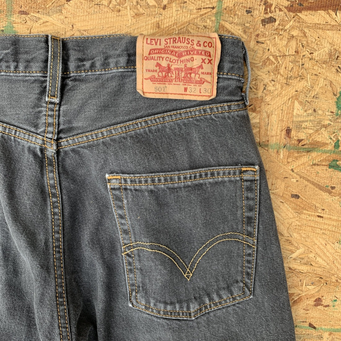 Black 501 Denim Jeans