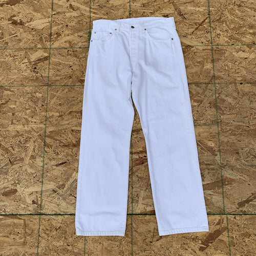 Levi's 501 White Denim Jeans | 34