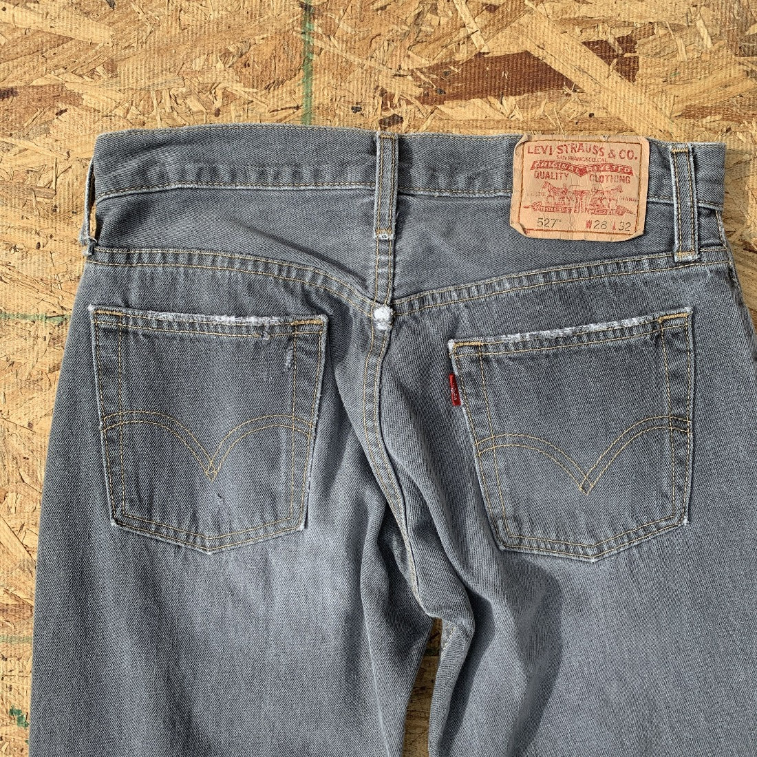 Levi's 527 Bootcut Grey Faded Denim Jeans | 28