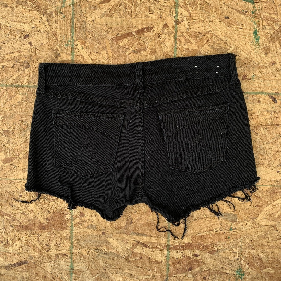 90s Delia's Black Denim Cutoff Shorts  | 9 10
