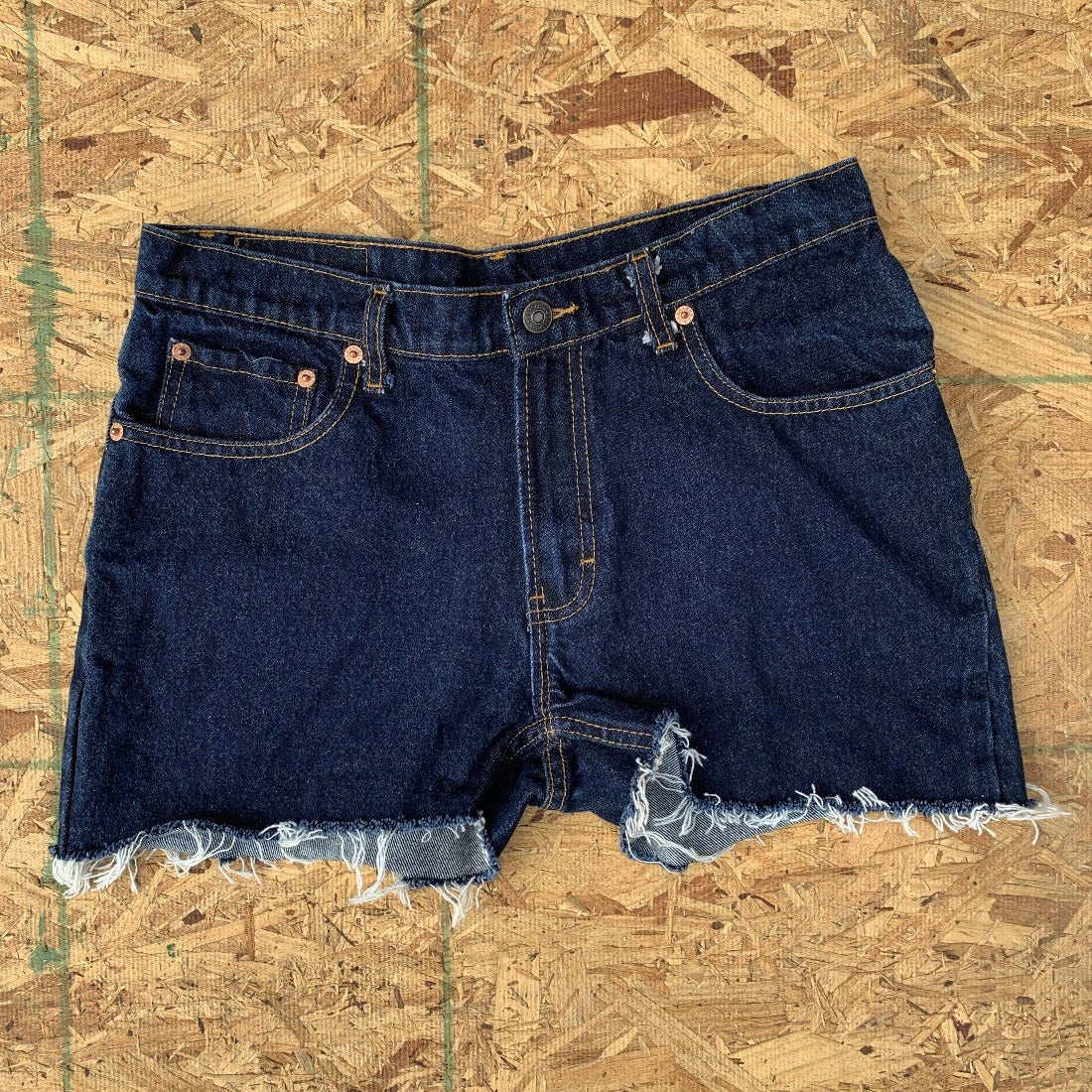 80s Jordache Dark Wash Indigo Denim Cutoff Shorts | 30