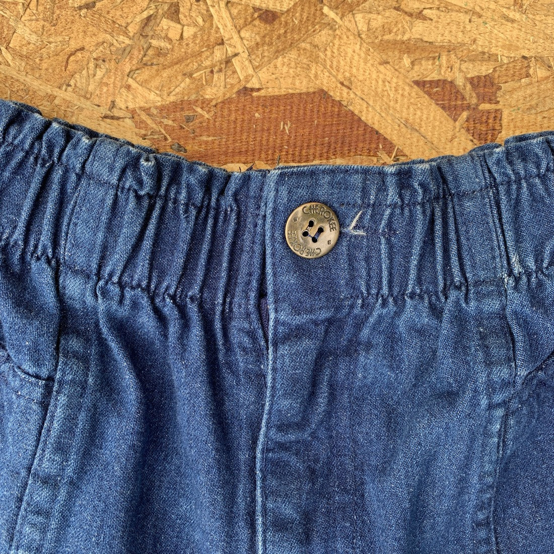 90s Cherokee Dark Wash Denim Shorts Elastic Waist | XS