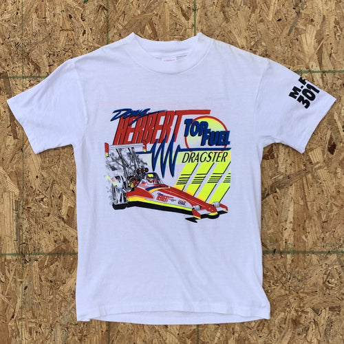 Top Fuel Dragster White Tshirt | S