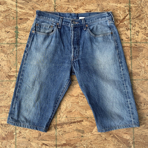 Levi's 501 Vintage Faded Medium Wash Denim Shorts | 34