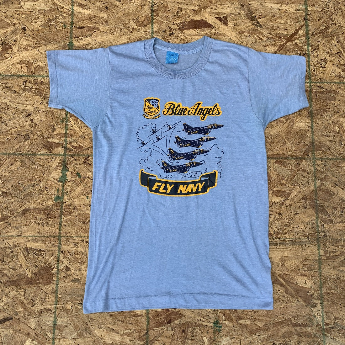 Vintage Blue Angels US Navy 70s T-Shirt | S