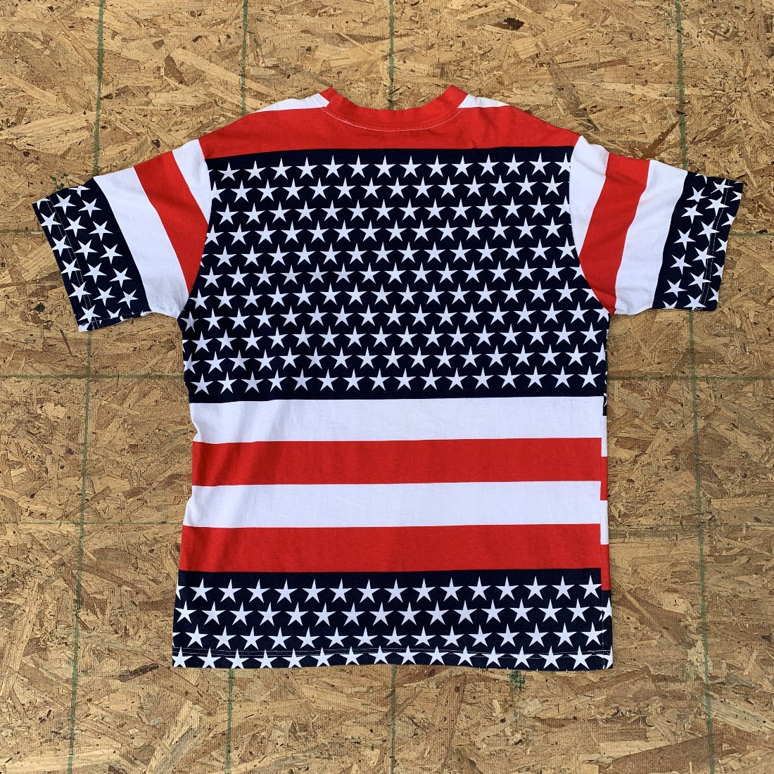 80s American Flag Red White Blue T Shirt | M/L