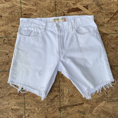 Vintage Levi's 527 White Denim Cutoff Shorts | 36