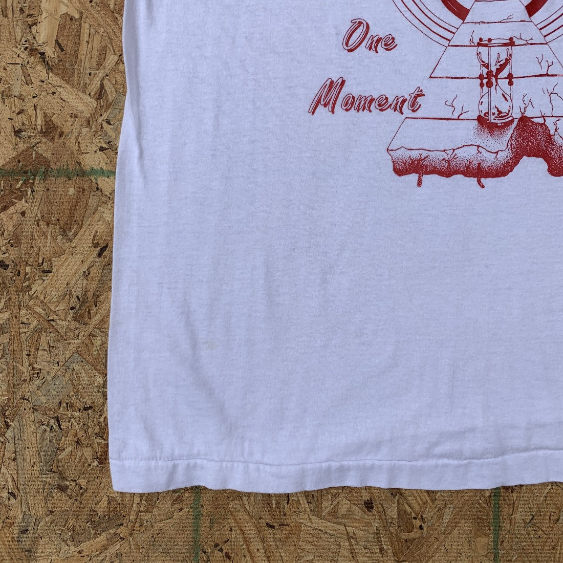 80s Home Made After Prom 89 White 50/50 Tshirt | XL Vintage