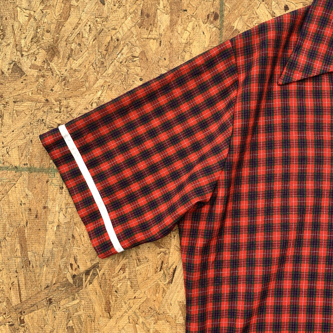 50s Sports Jantzen Swim Shirt Plaid | M