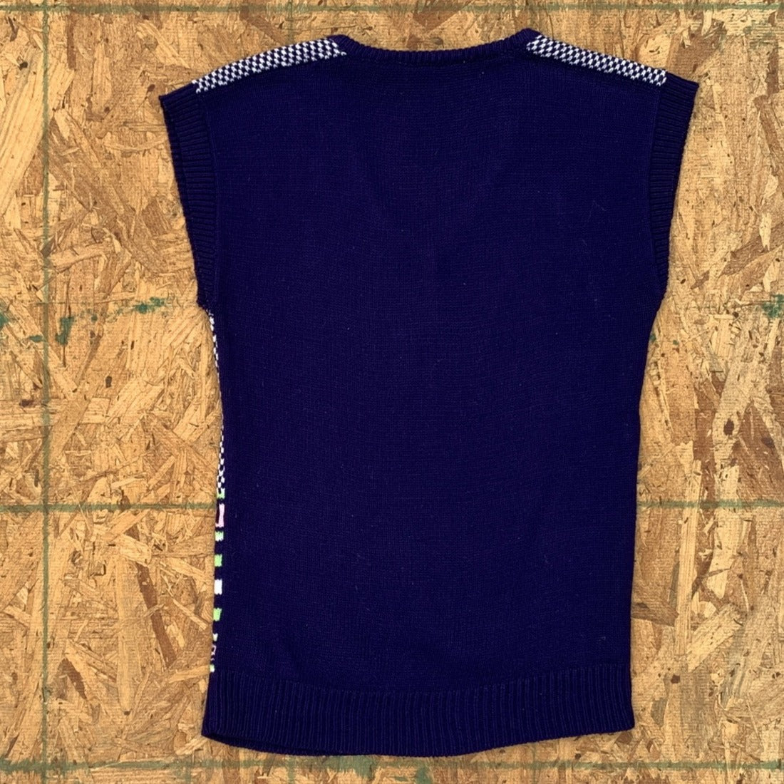 60s Geo Knit Sweater Vest | S