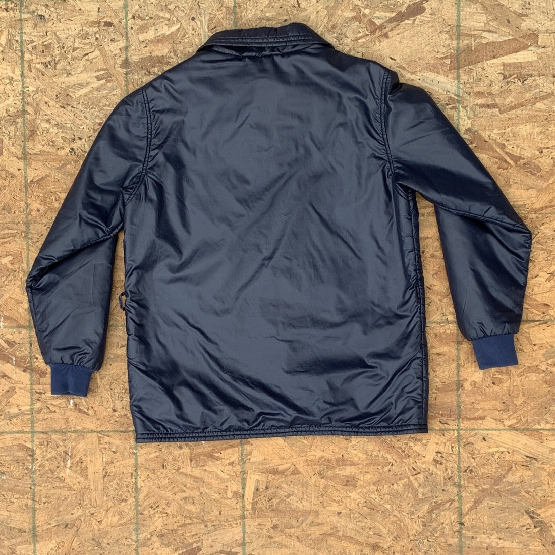 70s Blue Windbreaker Ski Jacket | M