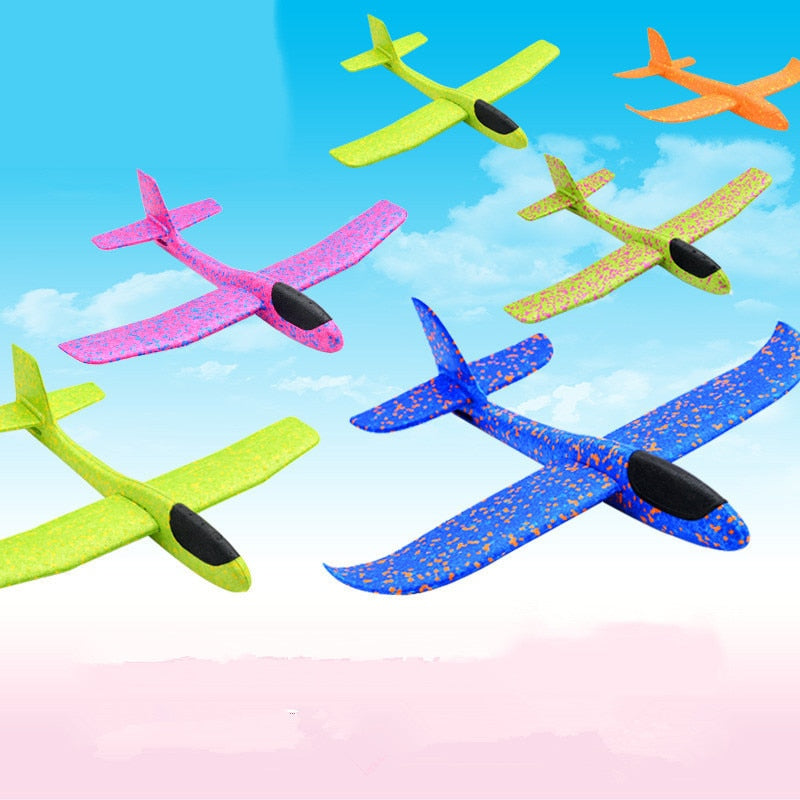 Hand throw flying gliders planes foam airplane party fillers kids toys random HI