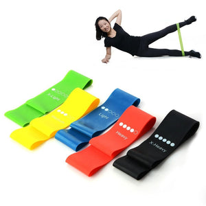 5 Colors Yoga Resistance Rubber Fitness Equipment