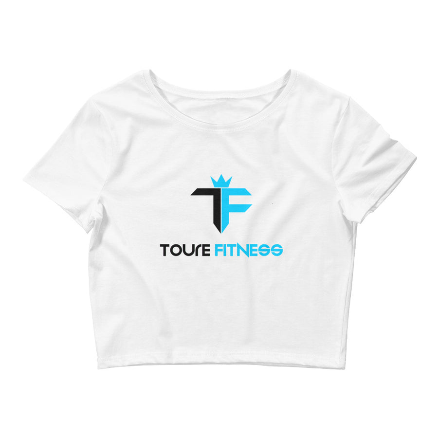 Toure Fitness White Crop Tee - ToureFitness
