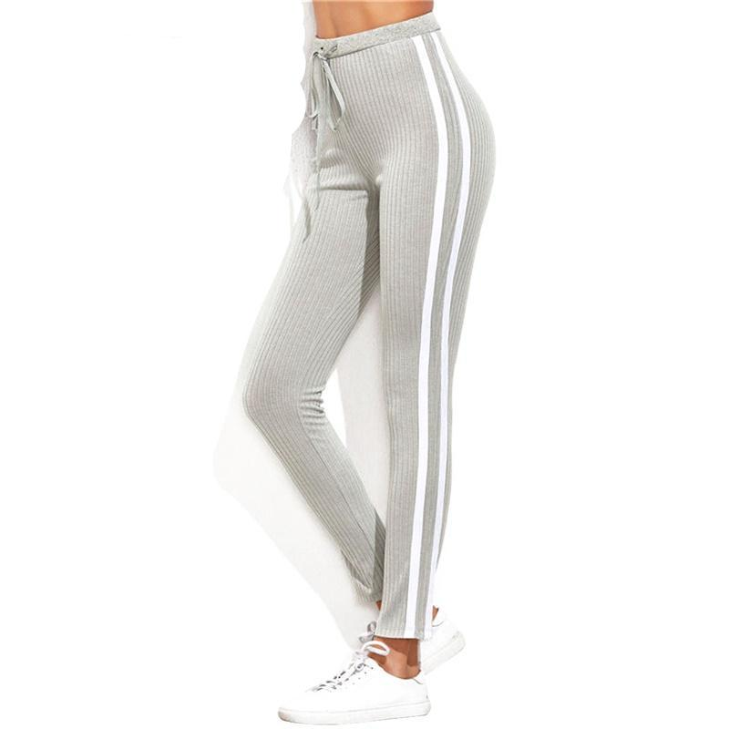Dual Stripe Drawstring Fitness Pants - ToureFitness