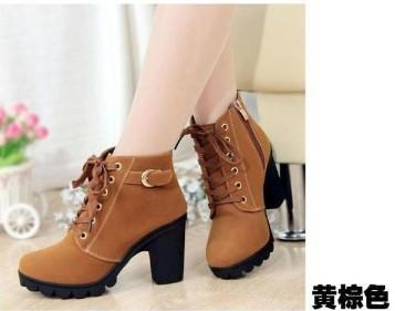 HEE GRAND Brand  Platform High Heel Single Shoes Vintage Women Motorcycle Boots Women Boots,Size 35-39,Free Shipping 367
