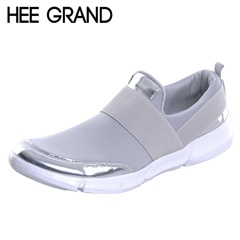 HEE GRAND Women Casual loafers Breathable Summer Flat Shoes Woman Slip on Casual Shoes 2018 New Flats Shoes size 35-42 XWC1276