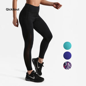 Women Mesh Pants Fitness Leggings Sporting Workout Leggings Elastic Trousers Slim Striped Printed Pants High Waist Leggings