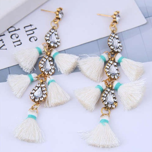 "A Piece of Aquamarie ""Tassel Drops"