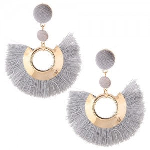 "smokey skies ""tassel hoops"""
