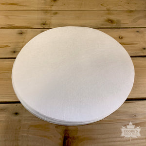 "Paper Prefilters 12"" round for Vacuum Filter Press by L.S. Bilodeau"