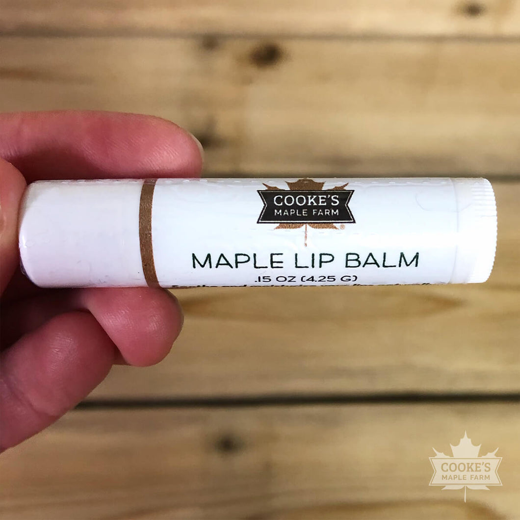 Cooke's Maple Lip Balm made in Maine by Beedandy