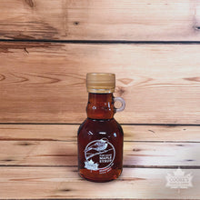 Load image into Gallery viewer, Cooke's Maple Farm Maine Maple Syrup 3.4 oz glass jug bottle