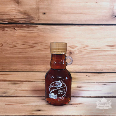 Cooke's Maple Farm Maine Maple Syrup 3.4 oz glass jug bottle