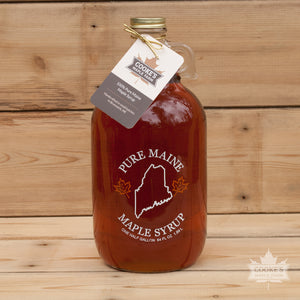 Maine Maple Syrup - Half Gallon Glass Jug - *Local Pickup Only*