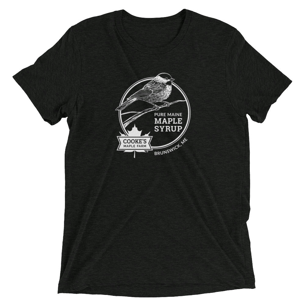T-shirt with Cooke's Maple Farm Chickadee