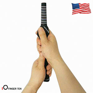 Golf Swing Grip Training Practice Tool Aid Value 2 Pack - fingertensport