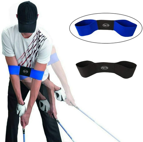 Golf Swing Trainer Aid Grip Secret Arm Band Trainer Value 1/2 Pack, Golf Training Aids Professional Motion Posture Correction Belt - fingertensport