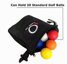 Load image into Gallery viewer, Golf Pouch Bag Valuables Tee Clip Zipper Hook, with Free 4 Pcs Golf Pencil Value Pack - fingertensport