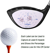 Load image into Gallery viewer, Golf Club Impact Labels Tape Wood Iron Ball Hitting Recorder