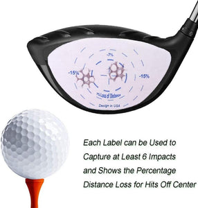 Golf Club Impact Labels Tape Wood Iron Ball Hitting Recorder