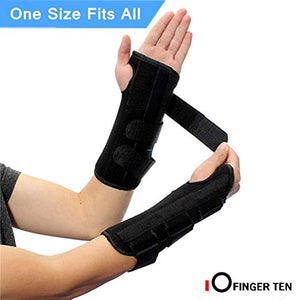 Wrist Brace Support Hand Left Right 1Pack - fingertensport