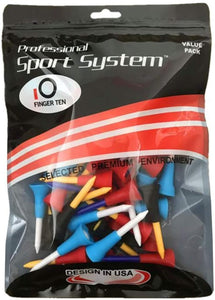 Golf Tees Unbreakable Plastic 50 Count Rubber Cushion - fingertensport