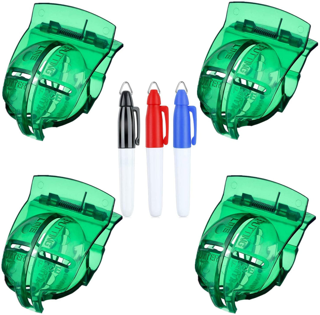 Golf Ball Line Marker Tool Template Liner Value 4 Pack Gift Set, With 4 Pieces Golf Ball Marker Pen