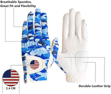 Load image into Gallery viewer, FINGER TEN Men's Golf Glove Left Hand Right with Flag Ball Marker