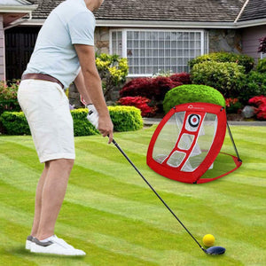 Pop Up Golf Chipping Net  Backyard Accuracy and Swing Practice