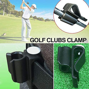 Golf Club Bag Clips On Putter Clamp Holder Organizer Value 6Pack, Durable Plastic Black Putting Clip with Ball Marker