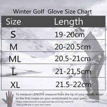 Load image into Gallery viewer, Winter Golf Gloves Men with Ball Marker 1 Pair Waterproof - fingertensport