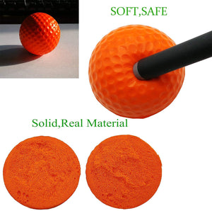 Golf Wiffle Practice Balls Foam Plastic Colored Value 12/24 Pack, Airflow Hollow Ball for Indoor Outdoor Driving Range Backyard Training
