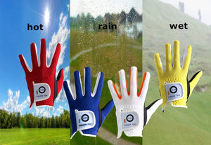 FINGER TEN 2 Pack Junior Kids Boys Girls All Weather Golf Gloves Gift Set