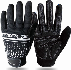Full Finger Workout Gloves Touchscreen for Men Women with Padding, Full Hand Gym Exercise Weight Lifting Gloves Male Female, Non Slip Fitness Gloves Extra Grip for Cycling Climbing Hiking Outdoor Gloves one Pair