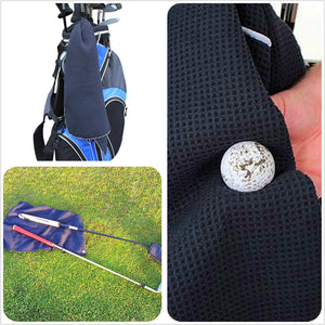 "Golf Towels with Grommet Clip to Bags, Microfiber Waffle 42""X14"""