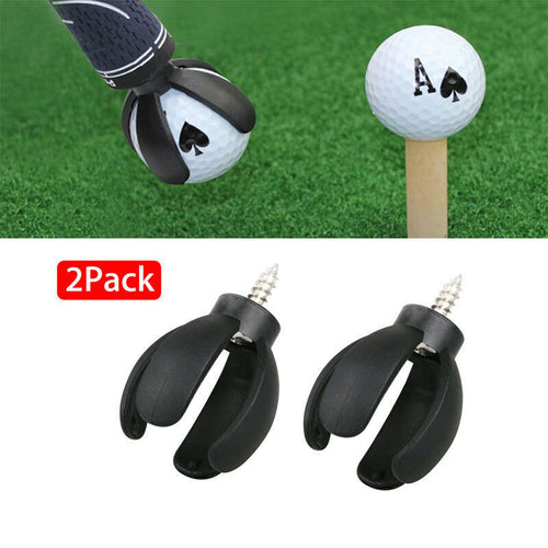 4 Prong Golf Ball Pick Up Retriever Grabber Claw Sucker Tool Putter Grip 2 Pack - fingertensport