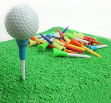 Load image into Gallery viewer, Golf Tees Unbreakable Plastic 50 Count Rubber Cushion - fingertensport